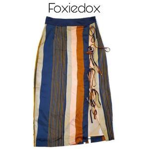 Foxiedox Striped Mid Length Skirt